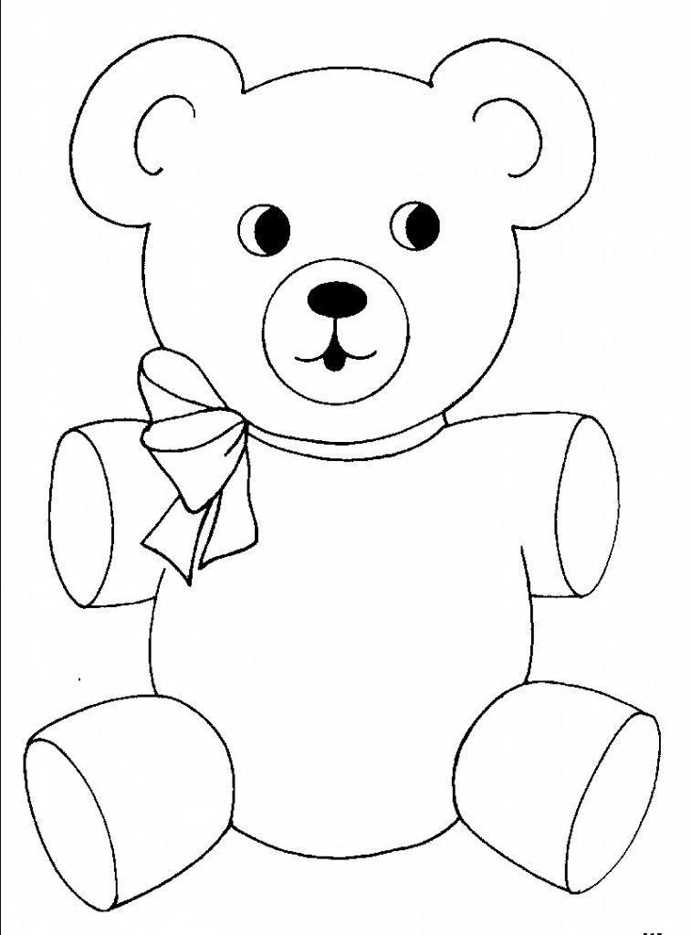 Teddy Bear Coloring Pages Free Printable Download Or Print The Image Below Button Blue Url In 2020 Teddy Bear Coloring Pages Teddy Bear Template Teddy Bear Drawing