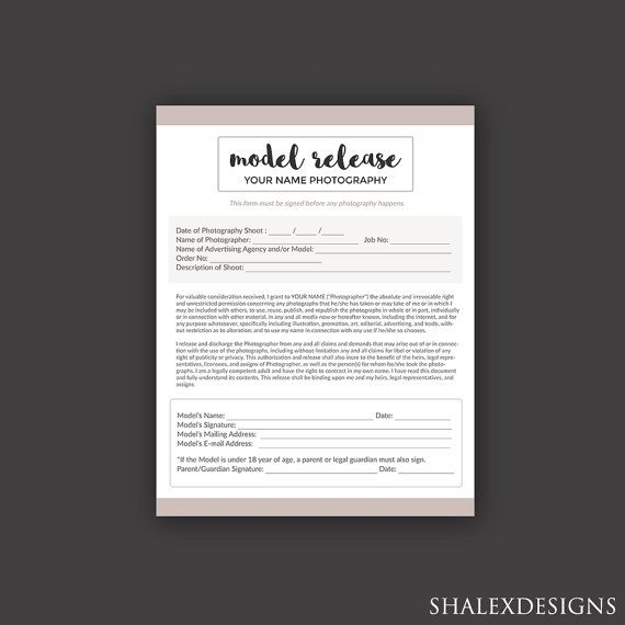 Grab This Model Release Template For Your Photography Business