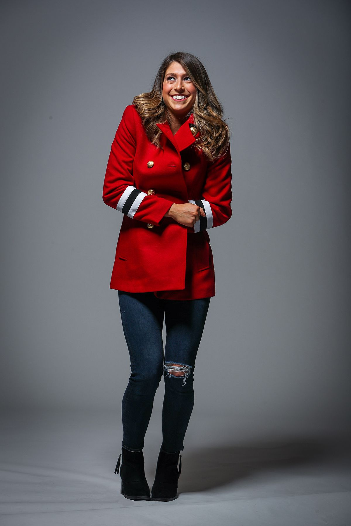 Stay warm this holiday season with this JPA Pea Coat