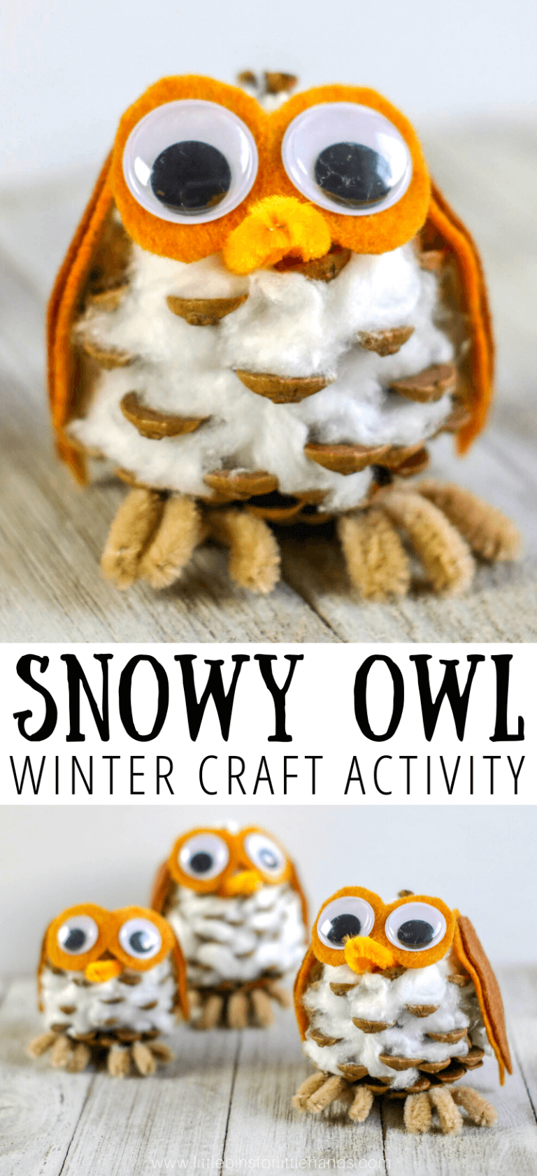 Photo of Snowy Owl Winter Craft For Kids