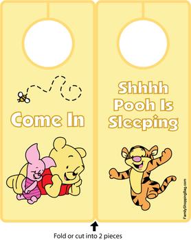 Bedroom Door Eeyore Baby Sign Large Personalised Winnie The Pooh Plaque