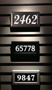 Lighted Street Address Signs