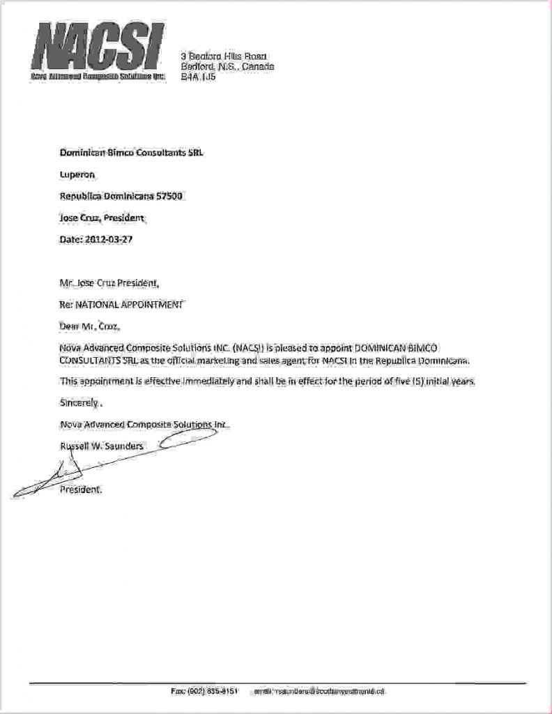 authorization letter behalf