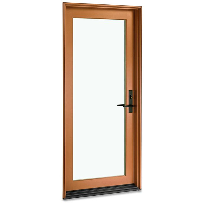 Partner The Sleek Styling Of The Marvin Contemporary Door With A Bright Silver Or Copper Clad Ex Contemporary Home Decor Contemporary Doors Contemporary Decor