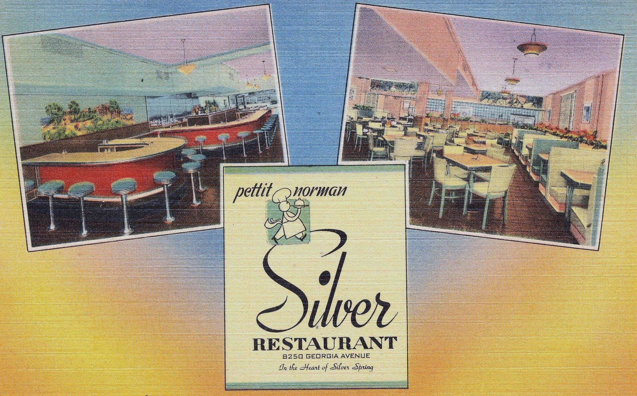 Silver Silver Spring Colorful Postcards Art Deco Fashion Art