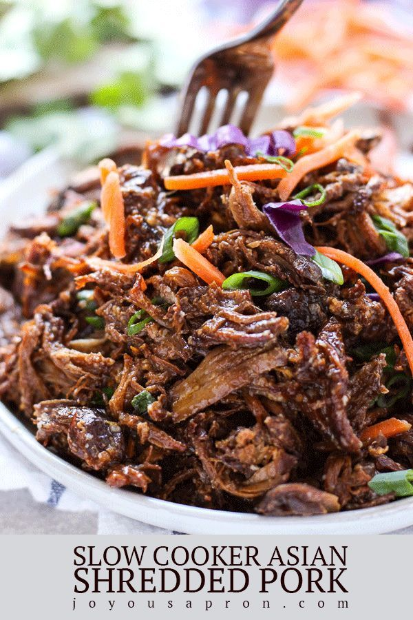 Slow Cooker Asian Shredded Pork  Recipe  Pork Recipes -8960