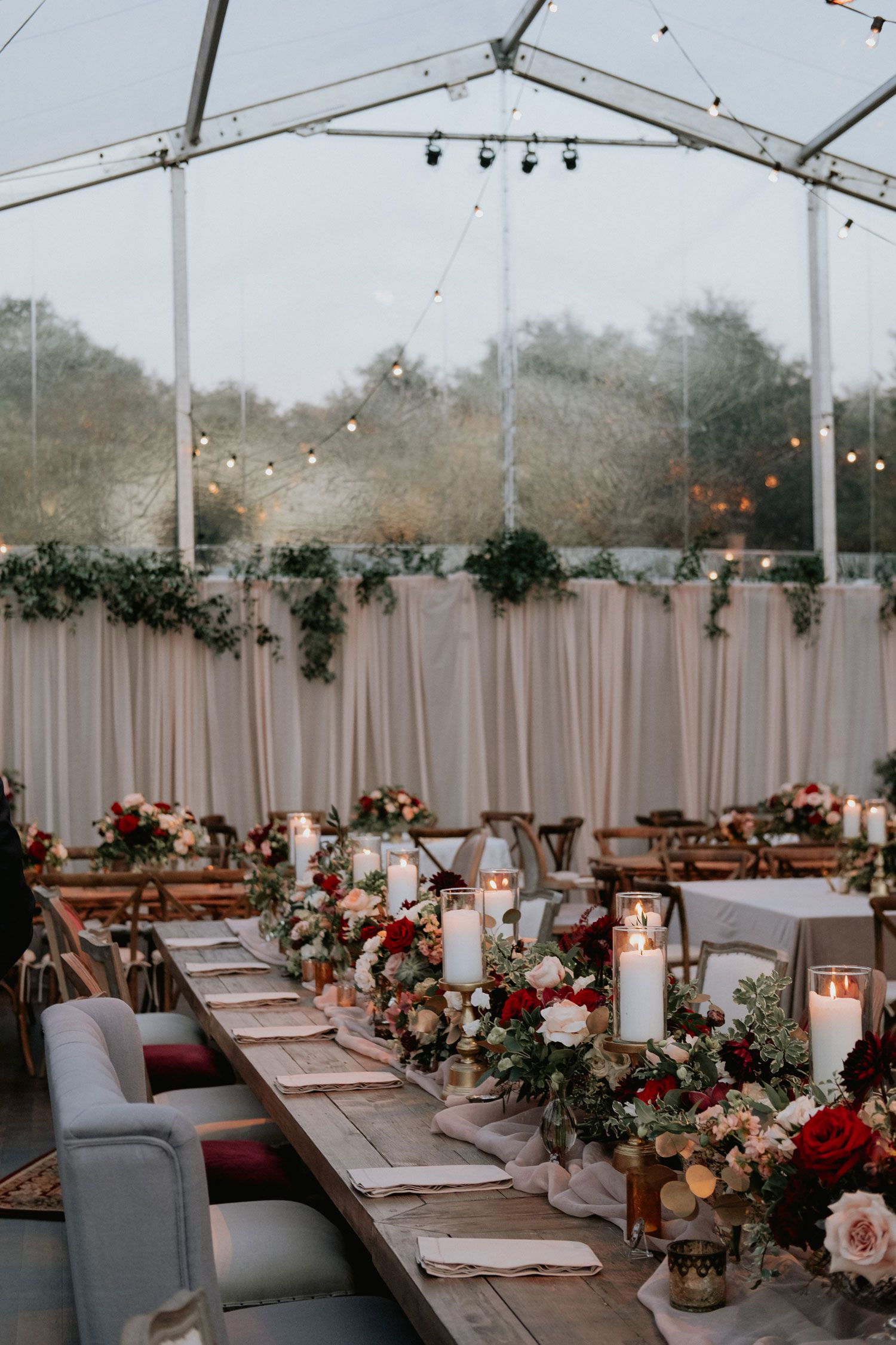 Outdoor Ceremony Tented Reception With Cozy Fall Color Palette Inside Weddings Autumn Wedding Reception Fall Wedding Reception Decorations Outdoor Fall Wedding