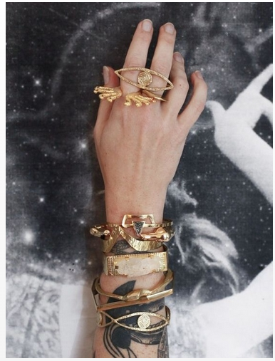 bohemian rings & bracelets