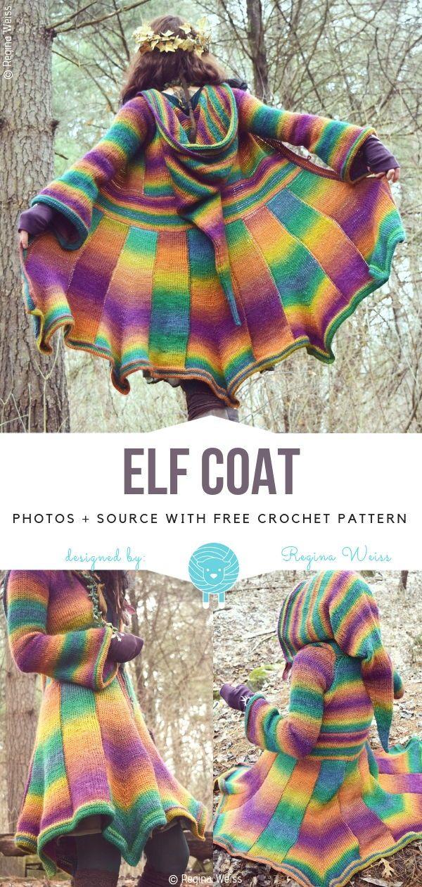 Elf Coat Free Crochet Pattern -   16 knitting and crochet Patterns sweater coats ideas