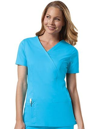 e7c4753c2d0 Style Code: (CH-4728) A mock wrap top that features front princess seams  and double needle top stitch detail. Also included are front patch pockets,  ...