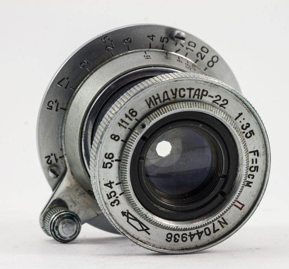 """Industar-22 1:3,5 F=5sm RED """"P"""" KMZ 35mm Rangefinder s/n.7044936  ***TESTED*** #Industar"""