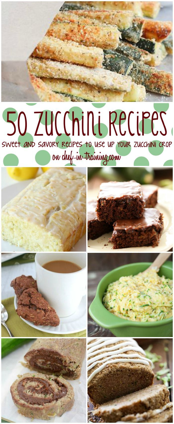 Zucchini Recipes 50+ Zucchini Recipes on chef-in- …If you have zucchini that you are looking to use up, then this is the list for you!50+ Zucchini Recipes on chef-in- …If you have zucchini that you are looking to use up, then this is the list for you!