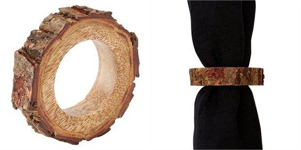Wood Slice Napkin Ring