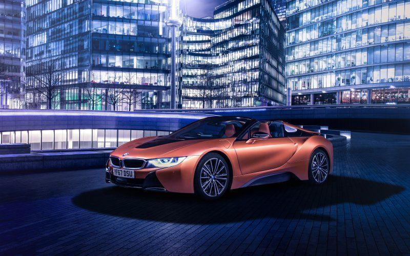 Sports Car Convertible Bmw I8 Orange Wallpaper Cars Wallpapers