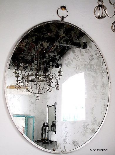 Love this huge, dreamy, old-looking mirror from San Miguel de Allende. $900