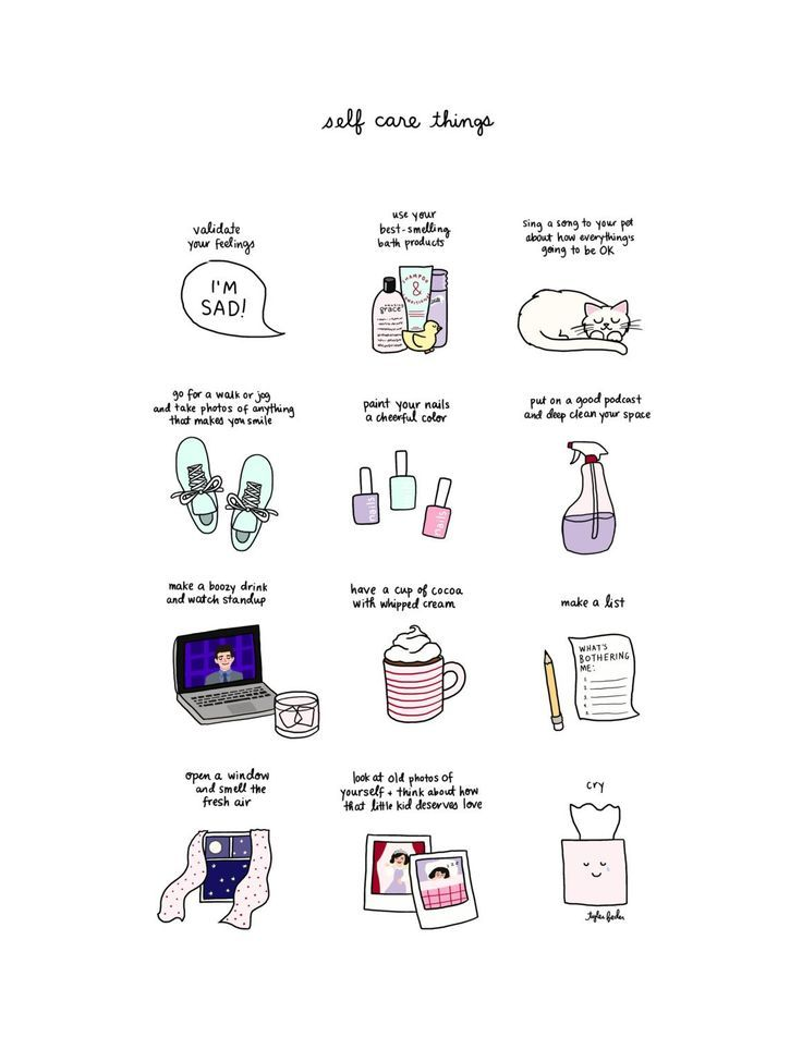 Items similar to Self Care Print - Hand-Illustrated on Etsy #self-care