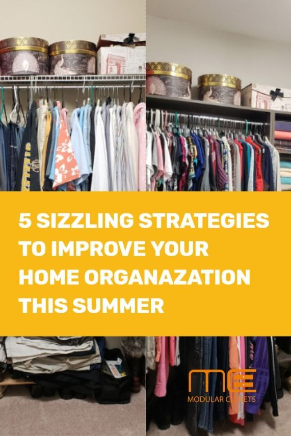 5 SIZZLING STRATEGIES TO IMPROVE YOUR HOME ORGANIZATION THIS SUMMER #summerhomeorganization Do you wish your home felt as relaxing as a day at the beach? When clutter takes over a house, the disorganization and chaos can make the environment seem stressful. Luckily home organization can be easy so that you can fully relax and enjoy the summer.   We love summertime here at Modular Closets! It's a time for vacations, guests, and spending quality time with family and friends. We're passionate a #summerhomeorganization