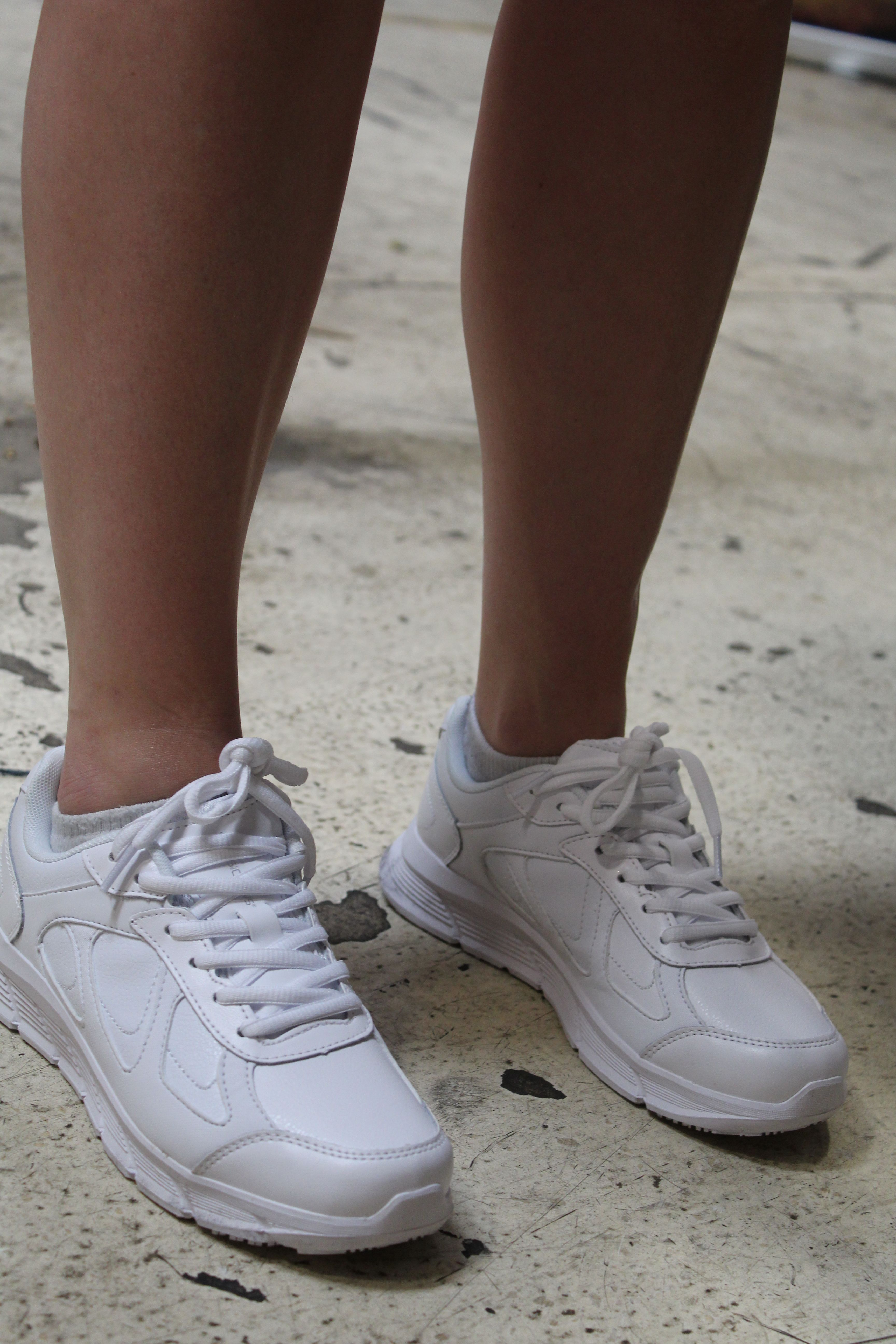 Slip resistant shoes, Sneakers, Leather