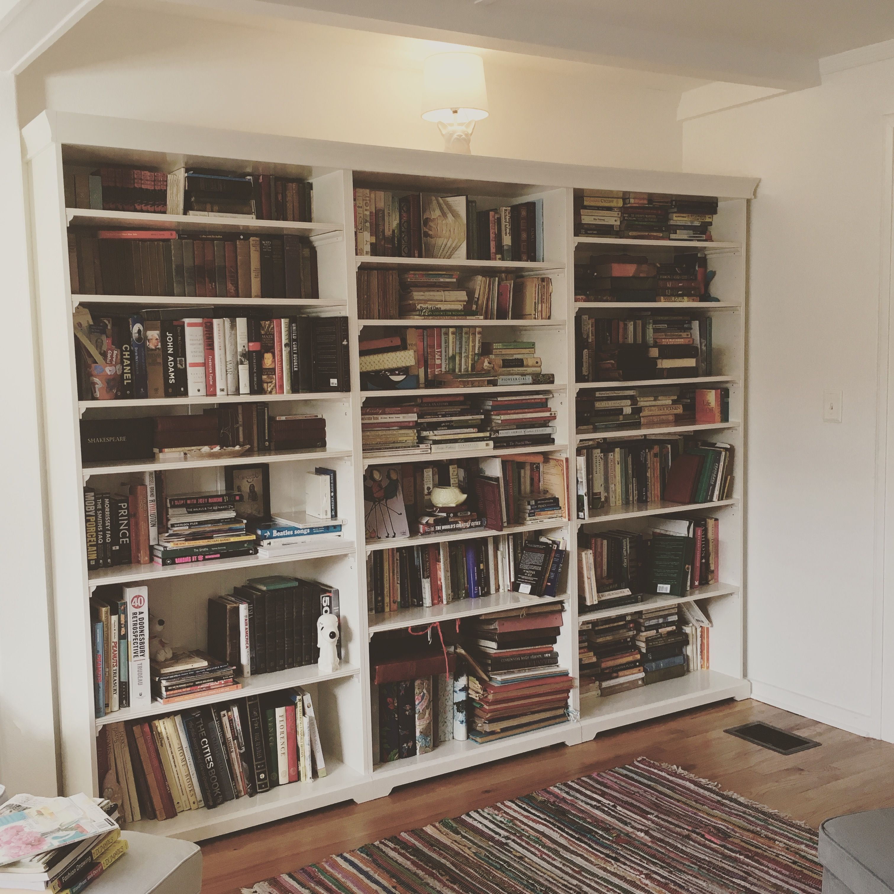 Part Of The Library Finished Used Ikea Liatorp Bookcases
