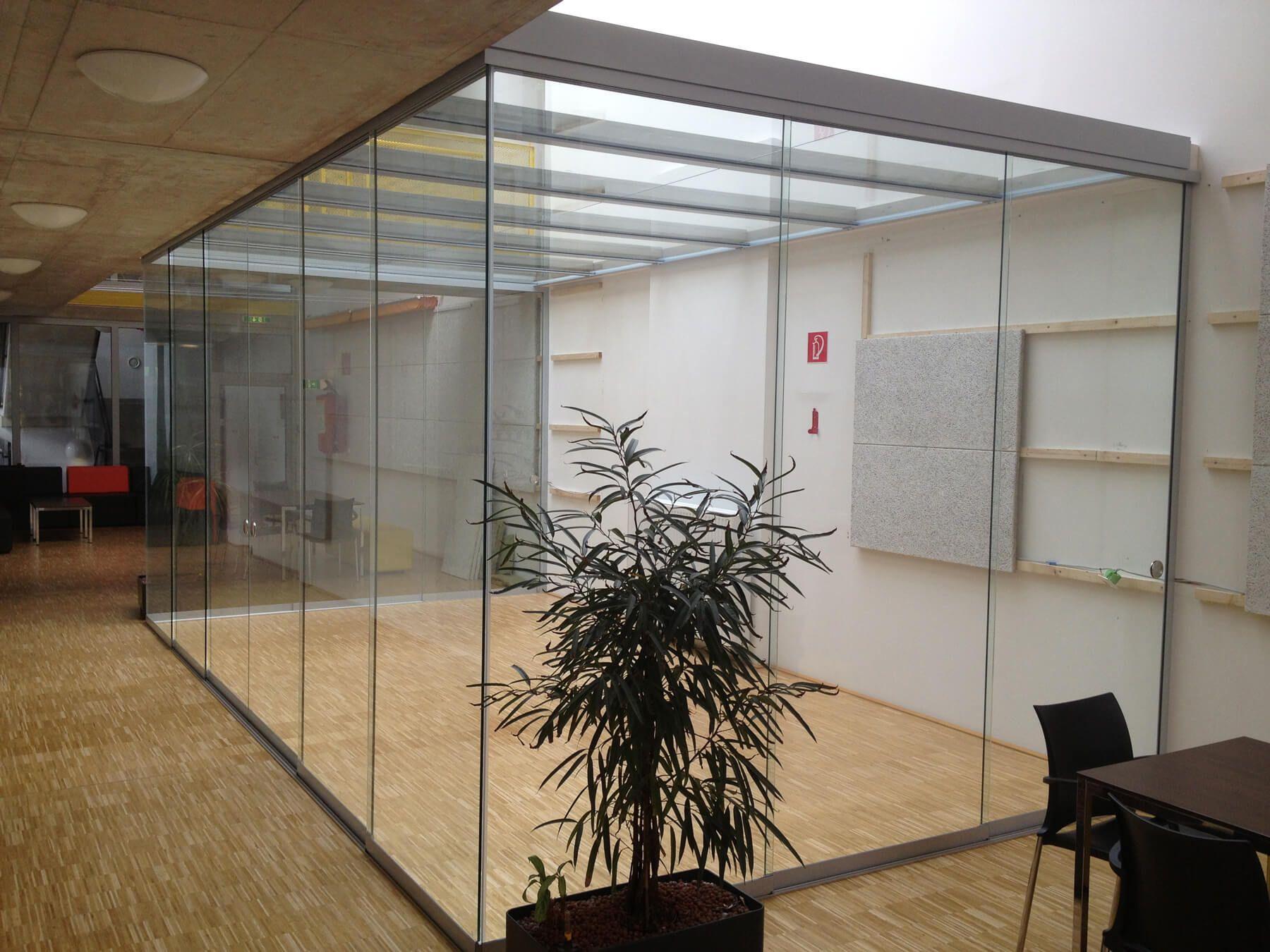 Rahmenlose Glasschiebetüren für Innenbereich ...