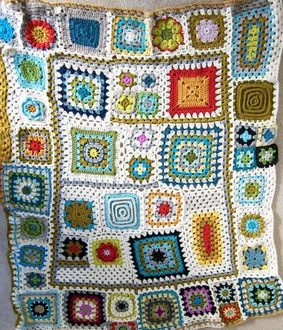 Granny Square Afghan Crochet Pattern