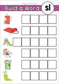 blends worksheets and activities sl word work activities word work and activities. Black Bedroom Furniture Sets. Home Design Ideas