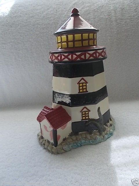 Lighthouse Cookie Jar Nautical Decor Cookie Snack Jar Ocean Sea Kitchen