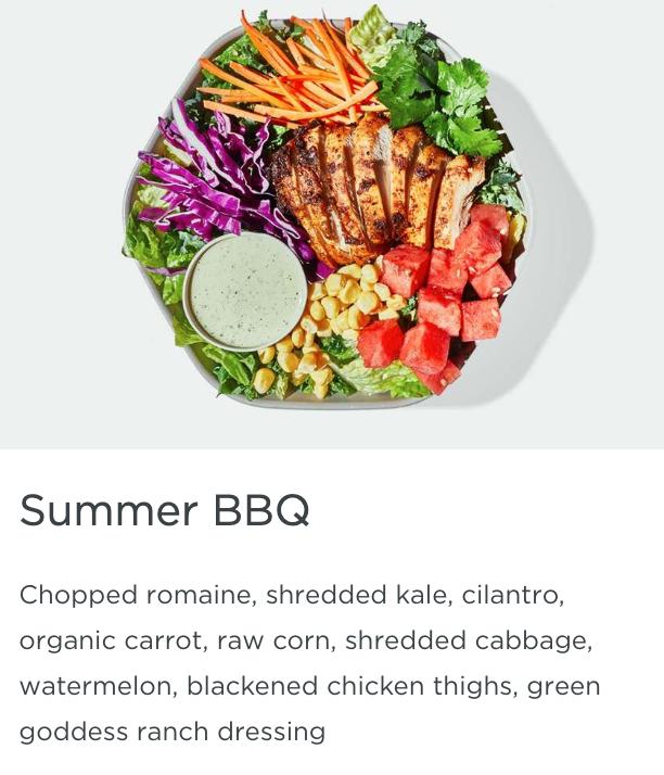 Summer BBQ Salad (Sweetgreen) #blackenedchicken