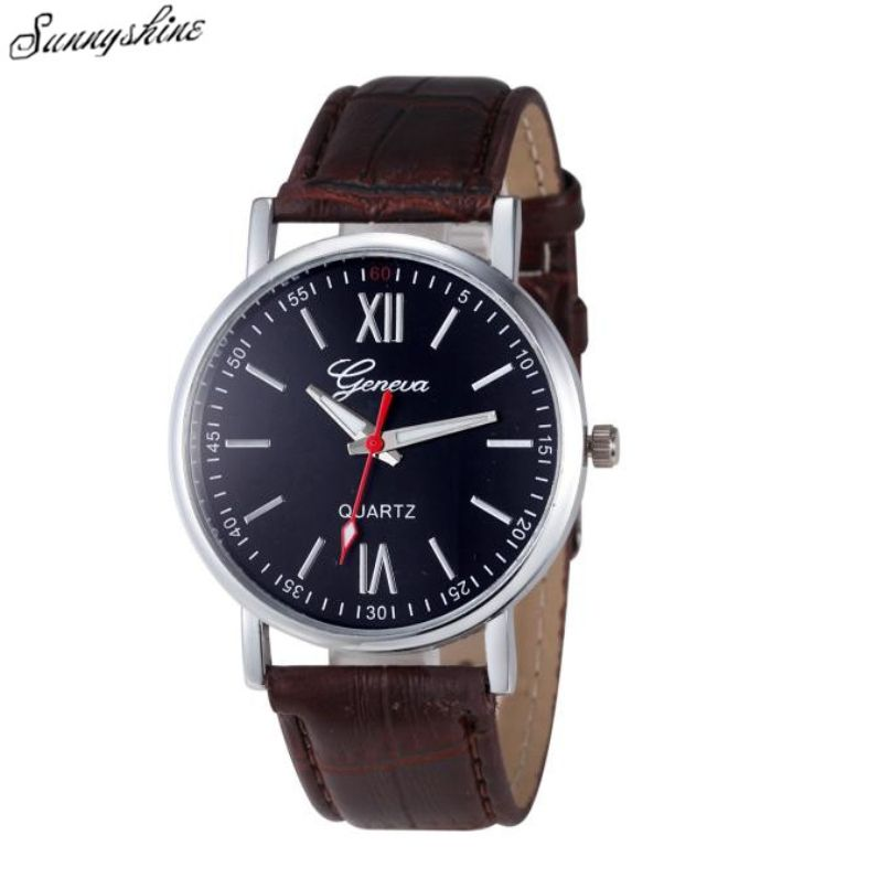 d813a706f405 Click to Buy    Men Women Geneva Fashion Watches Leather Analog Stainless  Steel