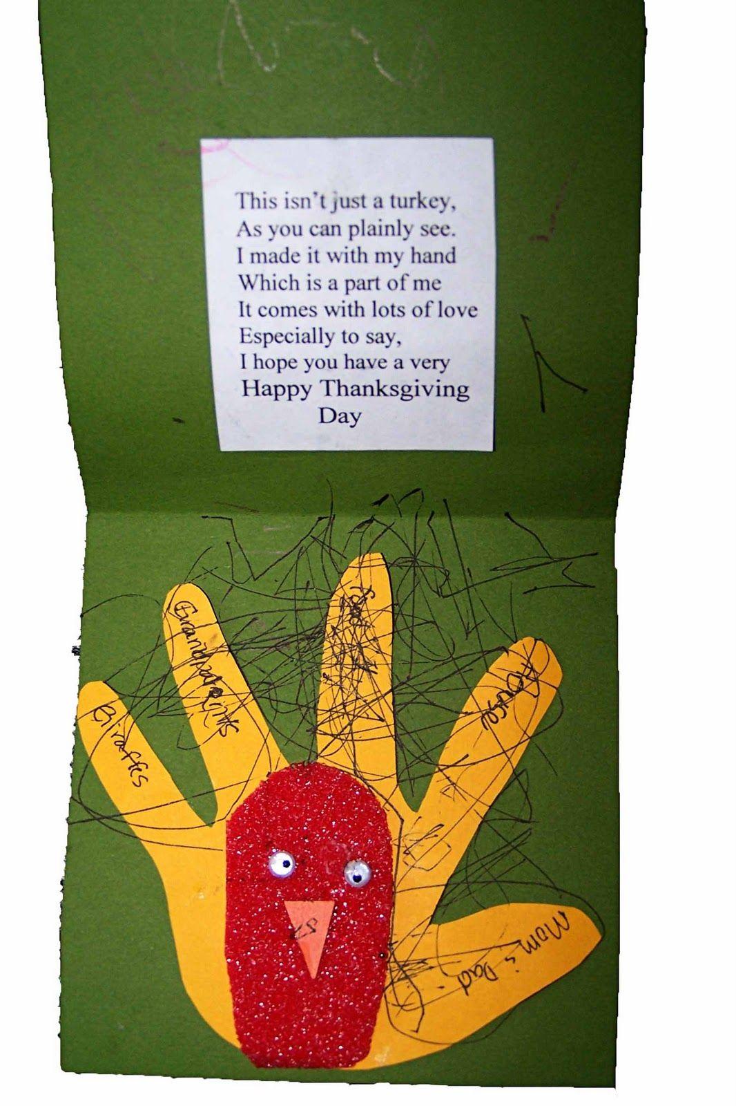 Children\'s Learning Activities: Thanksgiving Turkey Card ...