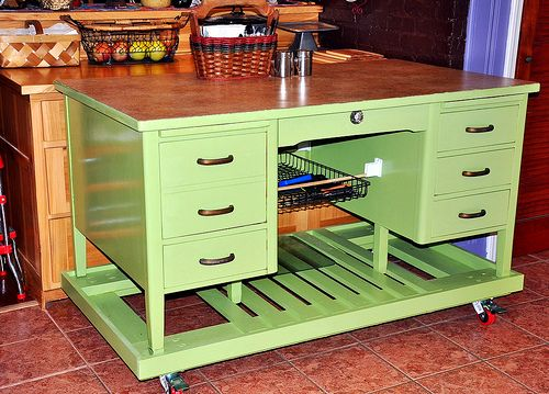 Kitchen Island Made From A Dresser old desk made into a kitchen island. | for the house | pinterest