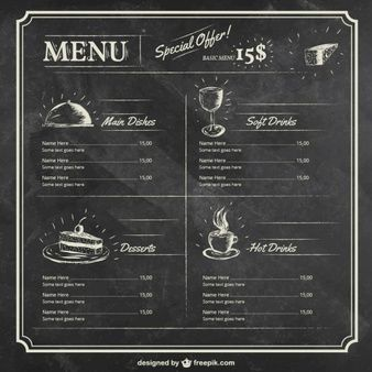 Menu Do Restaurante Grill No Estilo Retro Menu メニュー