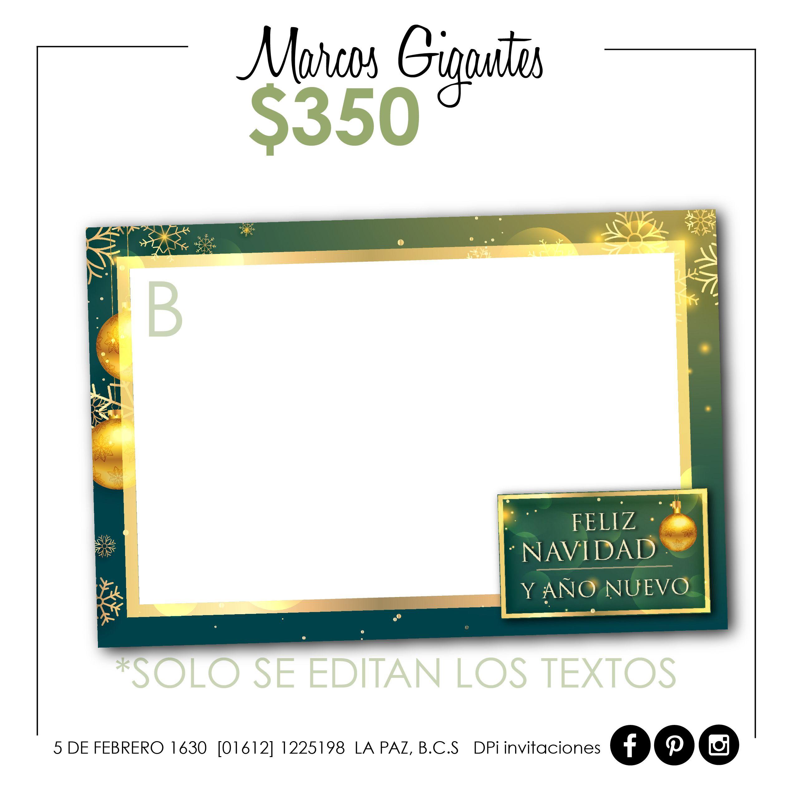 MARCOS GIGANTES para FOTOS $350 90X60cm Tenemos 4 opciones de diseño ...