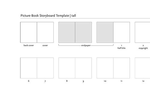 Picture Book Layouts  A Writer I Will Be    Storyboard
