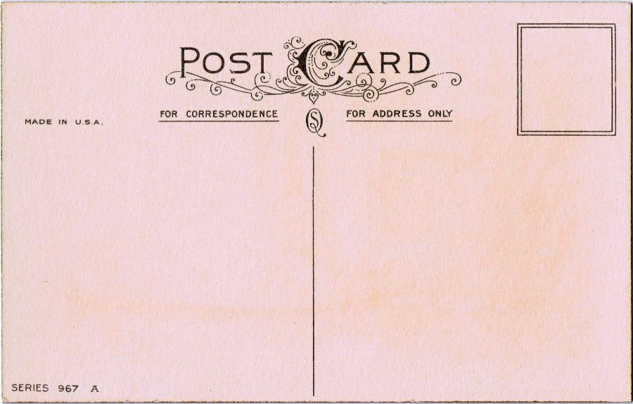 Free Printable Vintage Postcard - Pretty Printables Printables