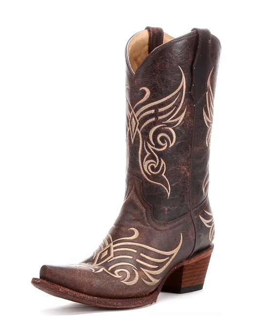 53d6ce19add This beautiful Circle G by Corral women's boot features a brown ...