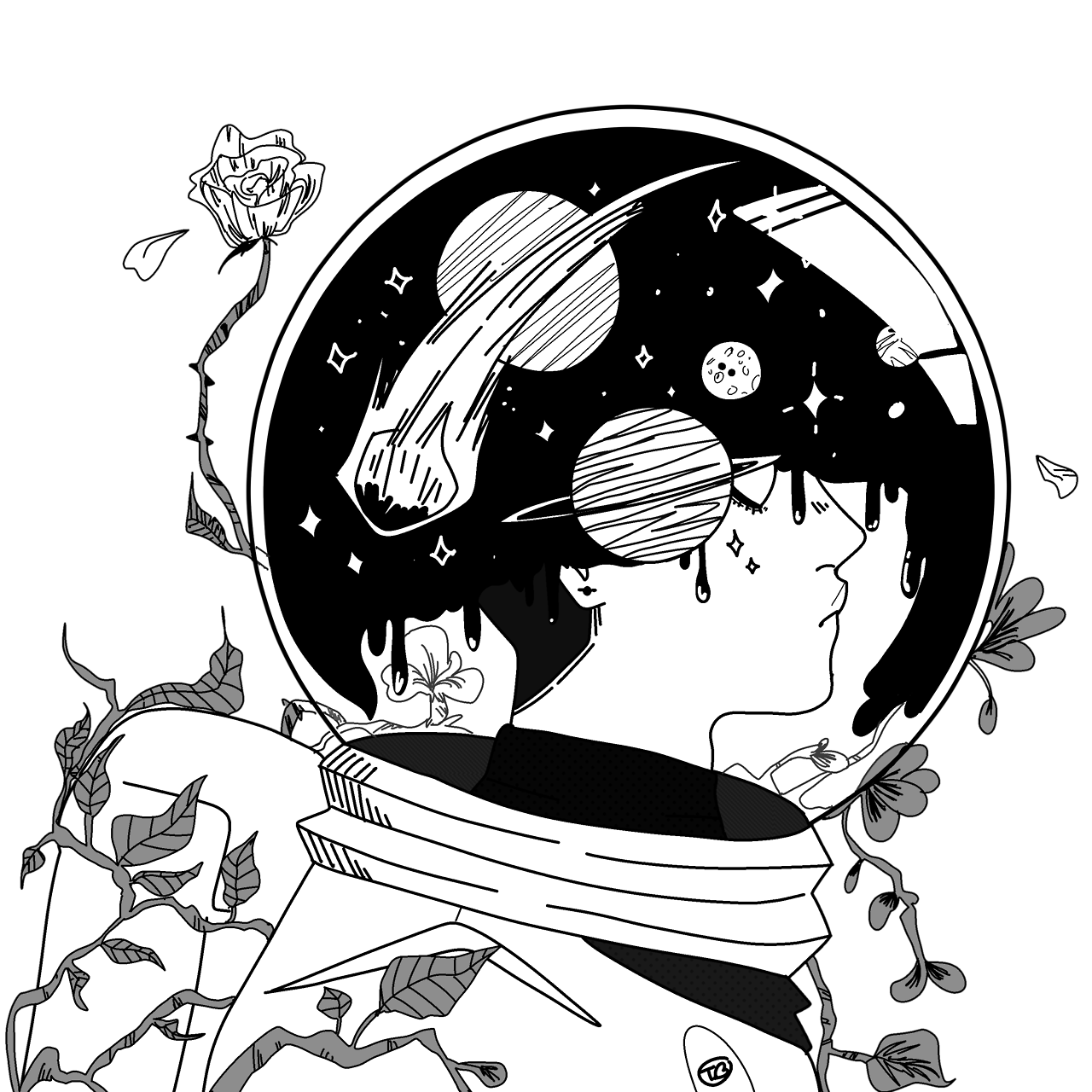 Toastybumblebee Space Inside On My Redbubble With Images Space Drawings Aesthetic Space Outer Space Drawing