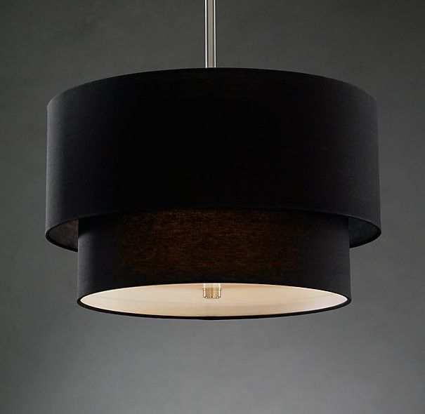 Products black pendant drum light page 2 an urge to remodel two tier round shade pendant black modern pendant lighting restoration hardware mozeypictures Image collections