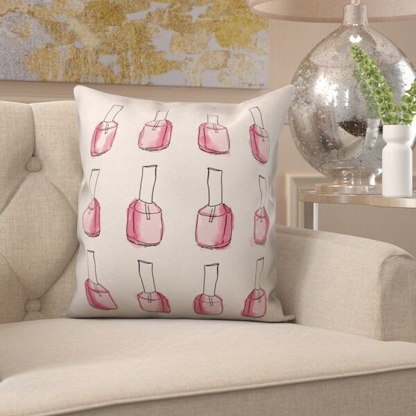 Bunton Glam Nail Polish Throw Pillow