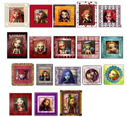 free printable monster high dollhouse monster high doll framed photos