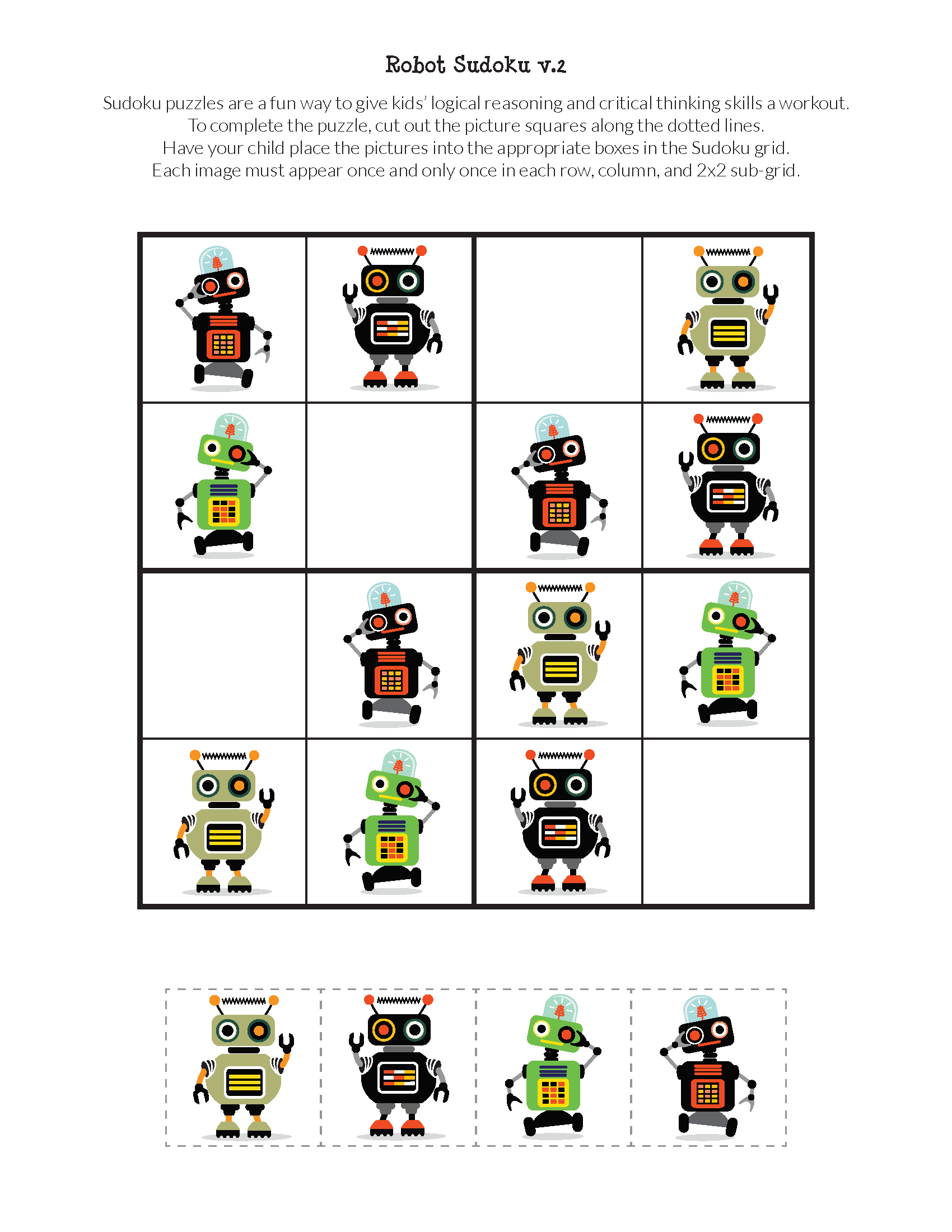 Robot Sudoku Puzzles Trong