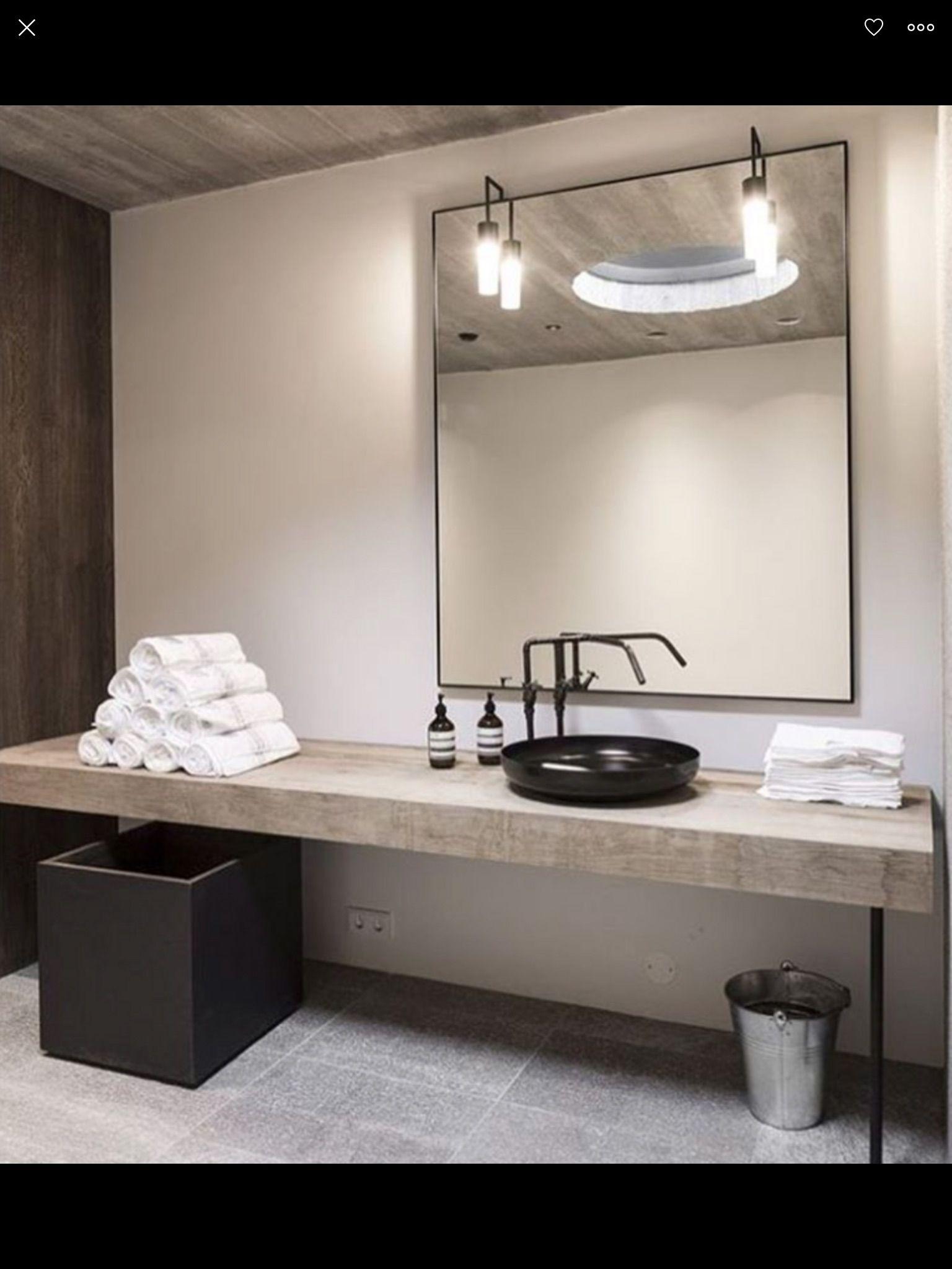 Raw But Warm Bathroom Interior