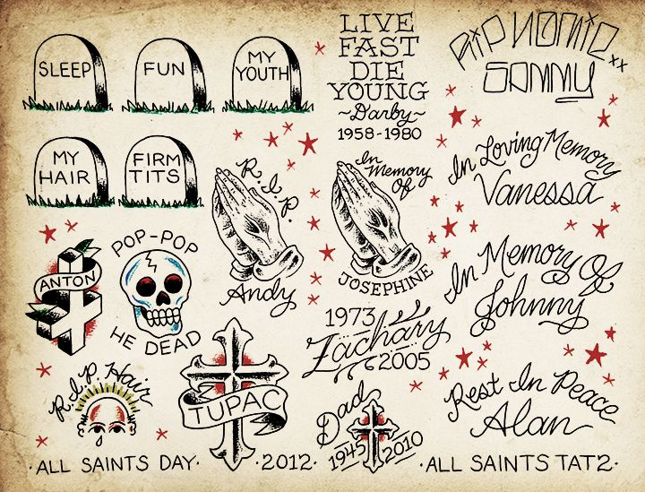 Tattoo Flash Art All Saints Day Tattoo Flash Art Flash Tattoo