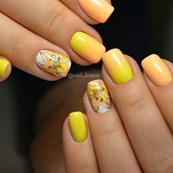 Contemporáneo Ombre Uñas Amarillas Fotos - Ideas de Diseño de Arte ...