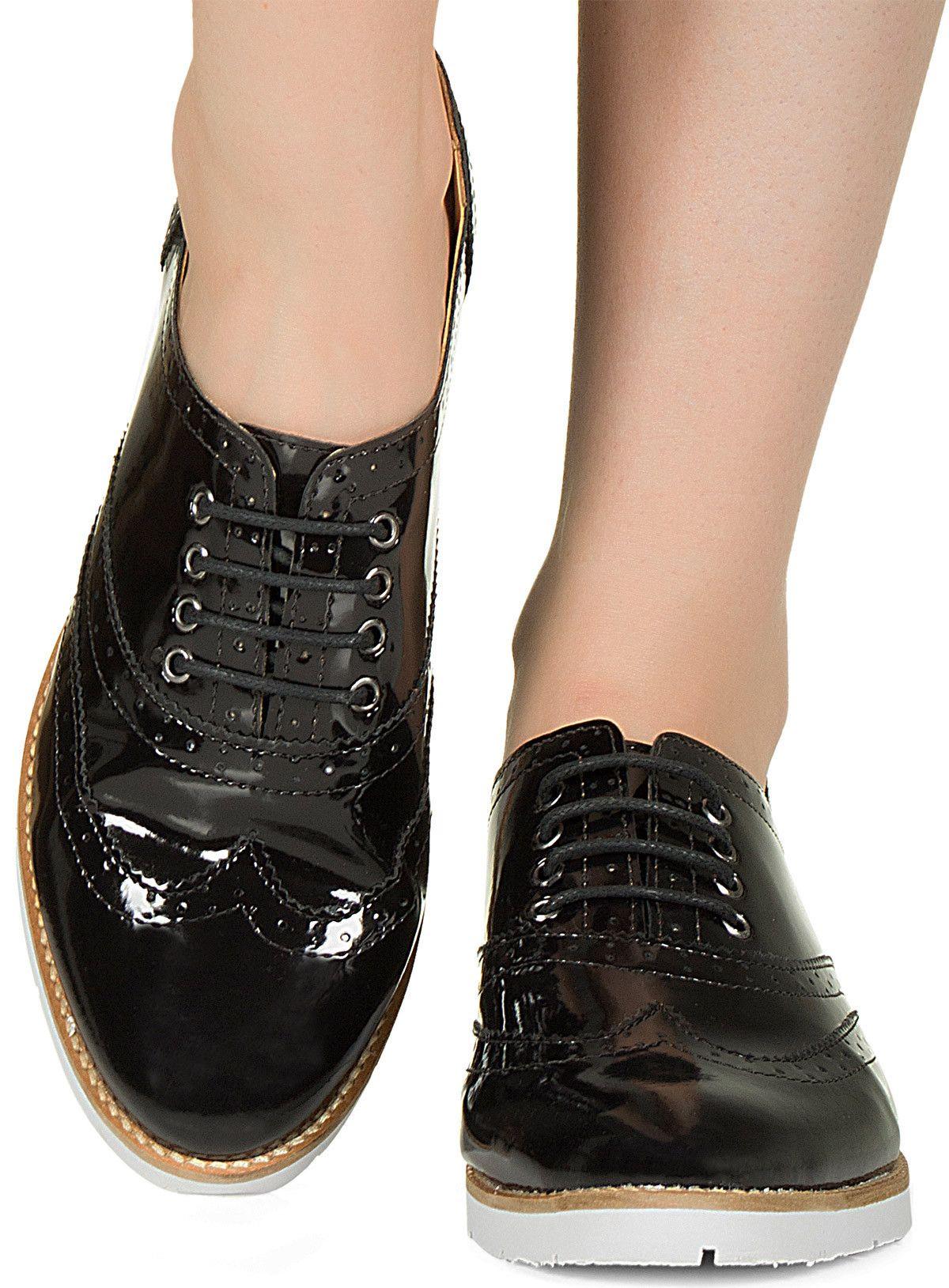 31795bbf3e Sapato oxford preto verniz Taquilla - Taquilla - Loja online de sapatos  femininos