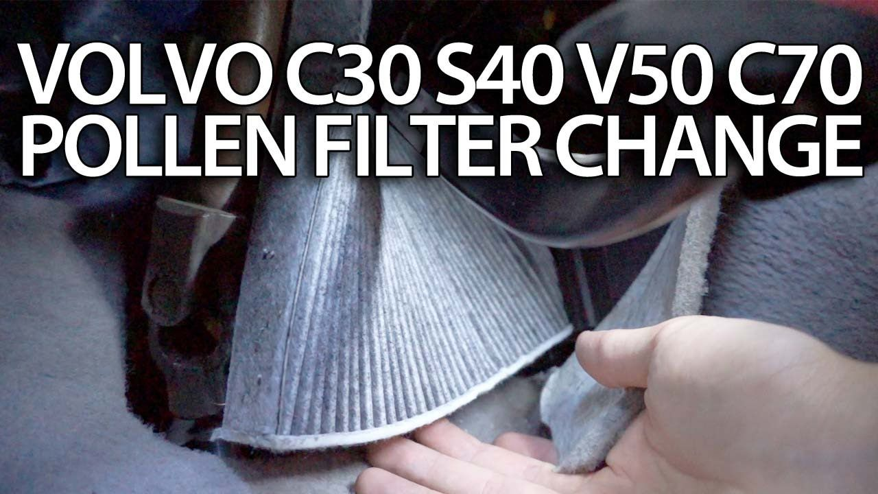 how to change pollen filter volvo c30 s40 v50 c70 cabin air filter replace service [ 1280 x 720 Pixel ]
