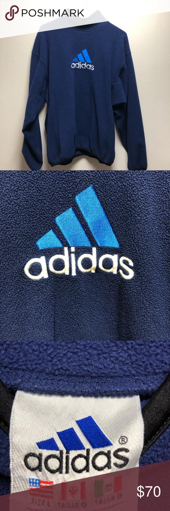 Download Vintage Large Adidas Mock Neck Fleece | Adidas sweater ...