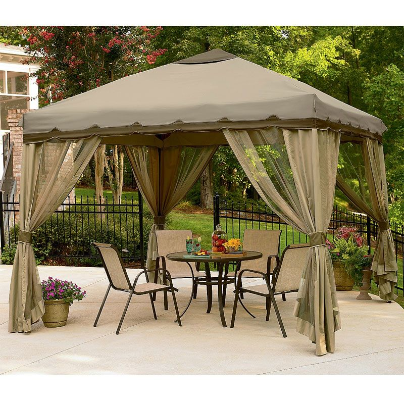 10 X 10 Portable Gazebo Replacement Canopy Tiny House
