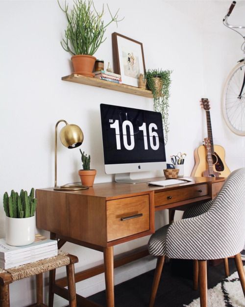 new darlings office space midcentury desk