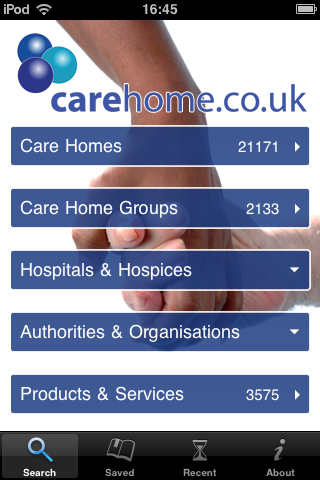 Find a great care home with carehome.co.uk's iPhone and